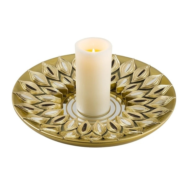 SINTECHNO SK-4268-C3 Peacock Dish Candle Holder