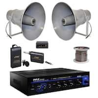 Stupendous Shop Pyle Pda5Bu Bluetooth Pa Mini Amplifier 5 6 Horn Speakers Wiring Cloud Venetbieswglorg