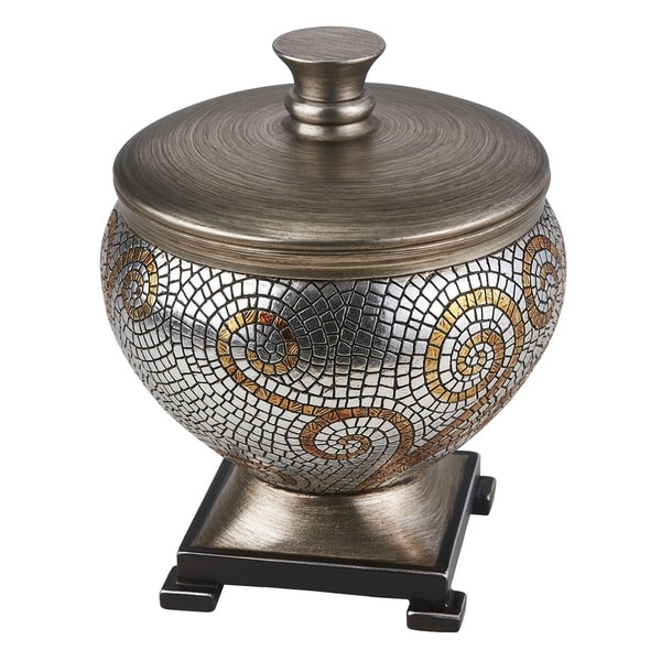 SINTECHNO SK-4286JX Elegant Golden Mosaic Decorative Container
