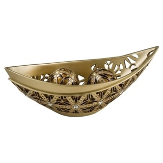 SINTECHNO SK-4267B Bejeweled Sunflower Decorative Bowl with Spheres