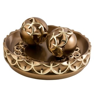 SINTECHNO SK-4273B Artistic Geometric Decorative Bowl with Spheres