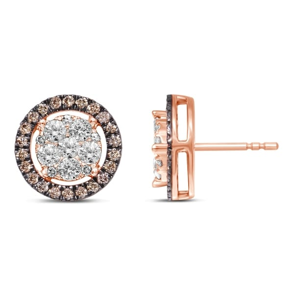 Shop Unending Love 10K Rose Gold 1-1/2 Cttw Champagne And