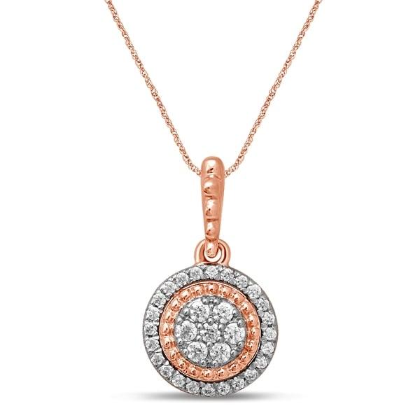 Shop Unending Love 10K Rose Gold 1/4 Cttw Diamond Halo