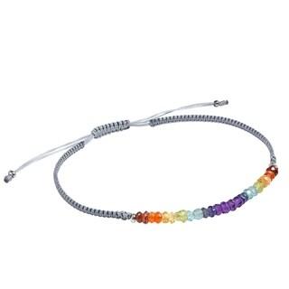 Handmade Layer Me Sterling Silver on Adjustable Black Bracelet (Thailand)