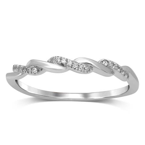 Unending Love 10K Gold Diamond Accent Intertwined Wedding Band