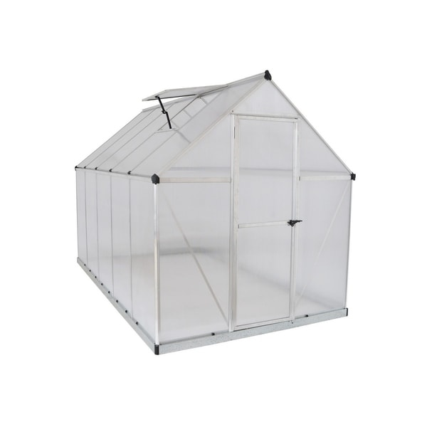 Shop Palram Mythos 6\' x 10\' Greenhouse with Twin Wall Roof Panel and ...