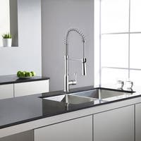 """Safavieh Solea Euphoria Stainless Steel Dual Function Pull-Down Spray Kitchen Faucet - 8.1"""" x 2.1"""" x 21"""""""