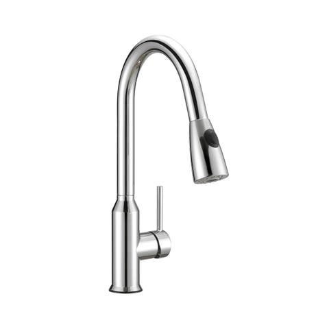 """Safavieh Solea Prosper Stainless Steel Dual Function Pull-Down Spray Kitchen Faucet - 9.3"""" x 2.1"""" x 16"""""""