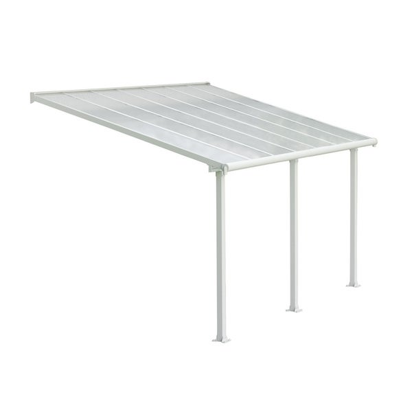 Shop Palram Olympia 10' x 14' Patio Cover with Twin Wall Roof Panel