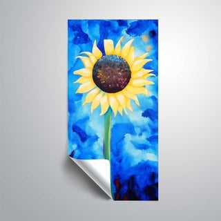 ArtWall Sunflower blue Removable Wall Art Mural