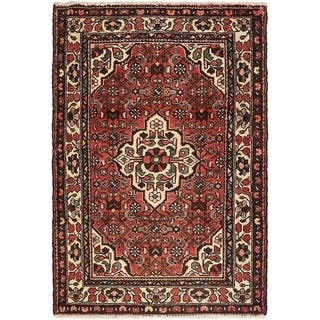 Hand Knotted Hossainabad Semi Antique Wool Area Rug - 3' 5 x 5' 2
