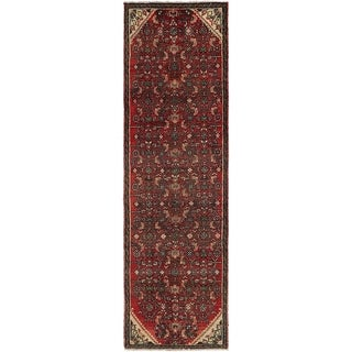 Hand Knotted Hossainabad Semi Antique Wool Runner Rug - 2' 6 x 8' 7