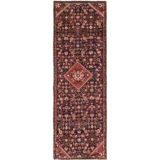 Hand Knotted Hossainabad Semi Antique Wool Runner Rug - 3' x 8' 8