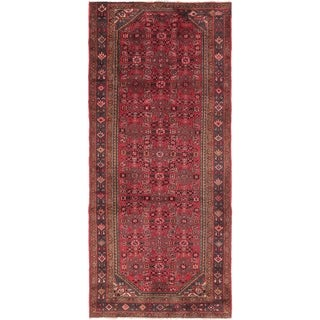Hand Knotted Hossainabad Wool Runner Rug - 4' x 9'