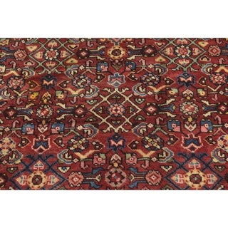 Hand Knotted Hossainabad Semi Antique Wool Runner Rug - 4' 2 x 9' 3