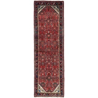 Hand Knotted Hossainabad Wool Runner Rug - 3' 5 x 10'