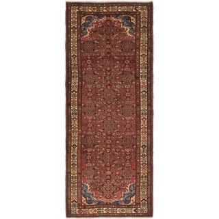 Hand Knotted Hossainabad Wool Runner Rug - 3' 10 x 10'