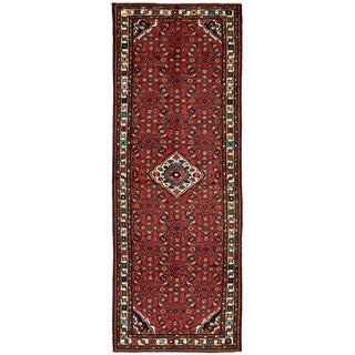 Hand Knotted Hossainabad Wool Runner Rug - 4' 3 x 12' 8