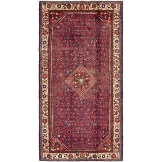 Hand Knotted Hossainabad Semi Antique Wool Area Rug - 5' 2 x 10' 2