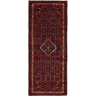 Hand Knotted Hossainabad Wool Runner Rug - 4' x 9' 9