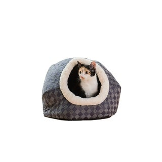 Armarkat Cat Bed Model C44, Blue Checkered