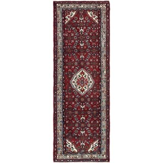Hand Knotted Hossainabad Wool Runner Rug - 3' 4 x 10'