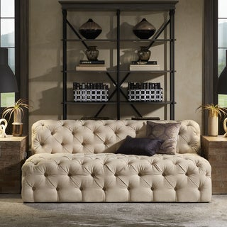 Knightsbridge II Beige Linen Tufted Chesterfield Seating by iNSPIRE Q Artisan