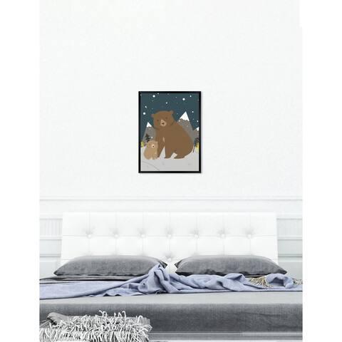 Oliver Gal 'Bear Family' Wild Animals Framed Art Print