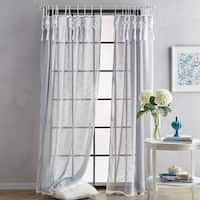 Suri Macrame Sheer Tab Top Single Curtain Panel
