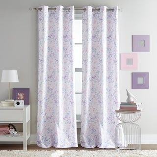 Butterfly Watercolor Grommet Top Single Curtain Panel