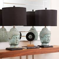 Abbyson Buddha Antique Lime Ceramic 23-inch Table Lamp (Set of 2)