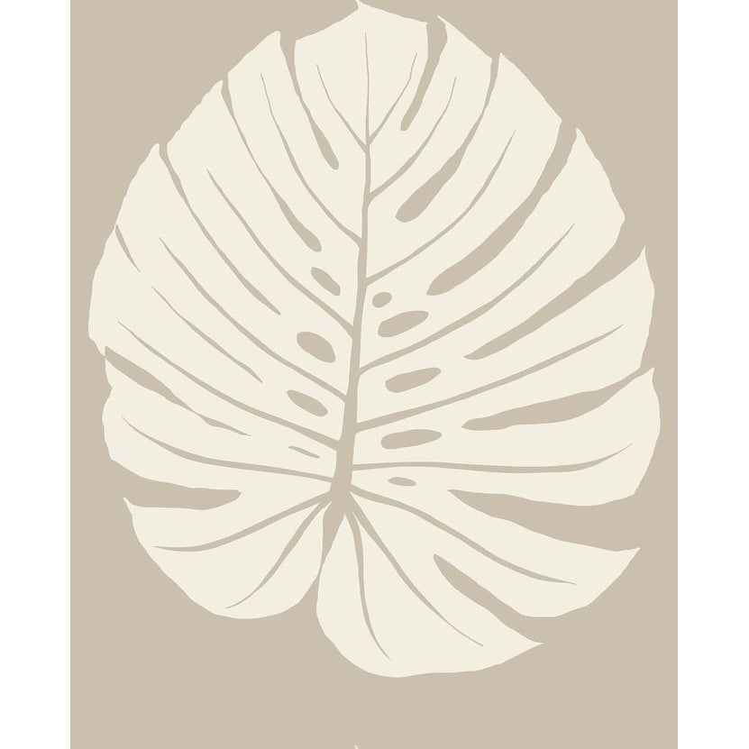 Bali Leaf Wallpaper 20 5 In X 33 Ft 56sqft Tan Ebay