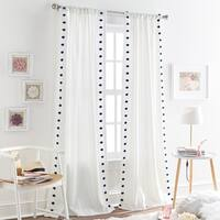 Tufted Dot Sheer Single Curtain Panel