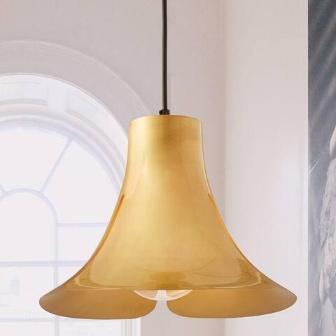 Transitional 1-light Soft Brushed Brass Pendant - Soft Brushed Brass - Soft Brushed Brass