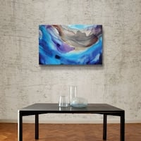 ArtWall Blue Abstract 2 Gallery Wrapped Canvas