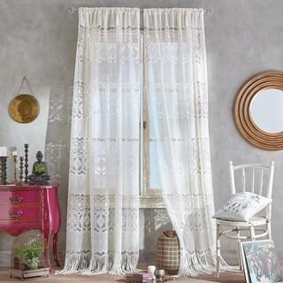 Boho Lace Sheer Poletop Window Panel