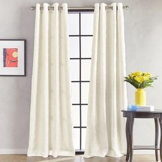 Calista Room Darkening Grommet Top Single Curtain Panel