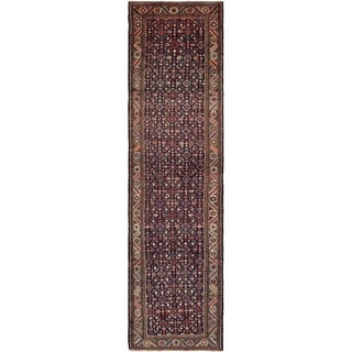 Hand Knotted Hossainabad Wool Runner Rug - 3' 8 x 14'