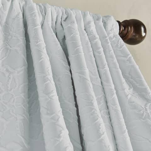 Bloomsbury Microsculpt Room Darkening Rod Pocket Curtain Panel