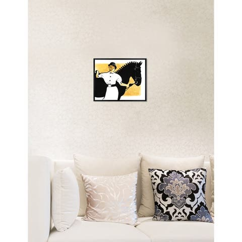 Oliver Gal 'Horse and Rider' Domestic Animals Framed Art Print