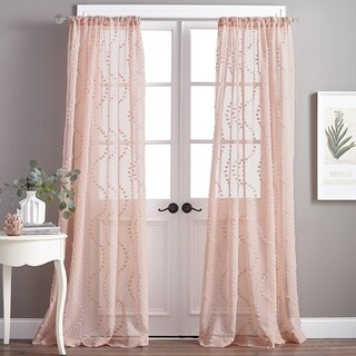 Dixon Wave Sheer Single Curtain Panel