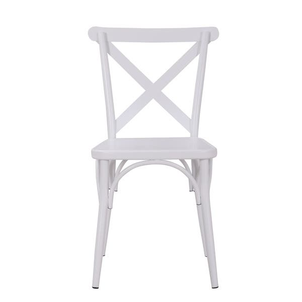 Rustic Cross Back Metal Modern Farmhouse Dining Chair Set Of 2 Overstock 23540741