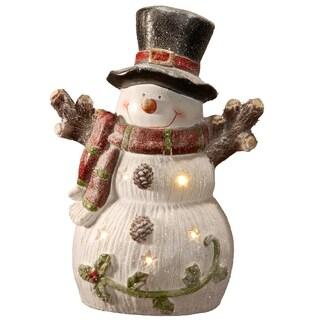 """18"""" Lighted Holiday Snowman Décor"""
