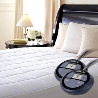 Pure Warmth 5304-9051RM-100 Quilted Heated Mattress Pad Cal King - White