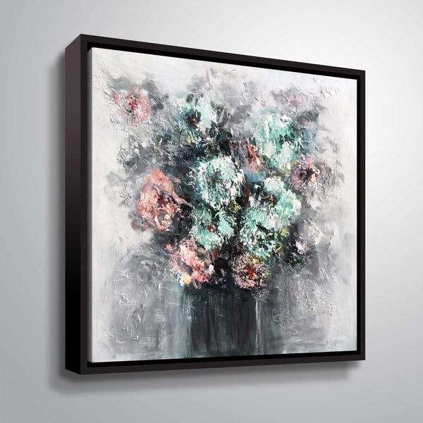 Shop Artwall Peonies Hydrangeas Gallery Wrapped Floater Framed