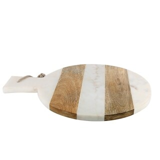 White Marble with Acacia Wood Chopping Board.