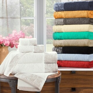 Superior 100-percent Cotton Wisteria 6-Piece Towel Set