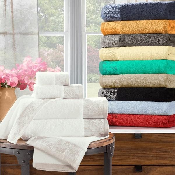 Superior 100-percent Cotton Wisteria 6-Piece Towel Set