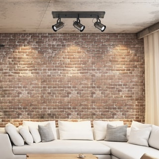 Link to Carbon Loft Fallon 3-light Dark Wood Finish Track Lighting, Bulbs Included Similar Items in Track Lighting