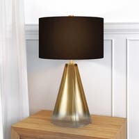 Ivant Table Lamp in Ombre Golden Glass with Black Shade